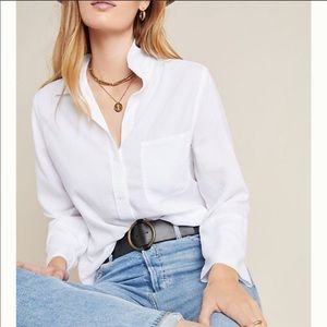 Cloth and Stone white button up top NWOT
